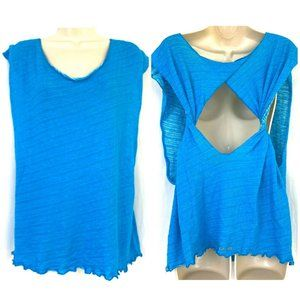 O'Neill 365 Tank Top M Twisted Open Back Blue